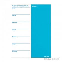 Planificador Semanal Magnético de Vidrio 45x60 Blanco con Azul