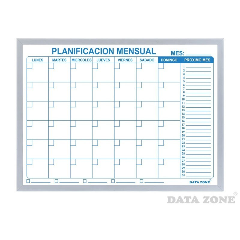 Planificador mensual magn tico grande - Pizarra calendario ...